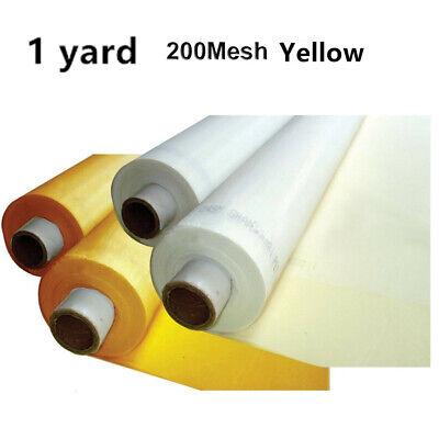 1 Yards 50 Silk Screen Printing Mesh Fabric200 Mesh 80tyellow