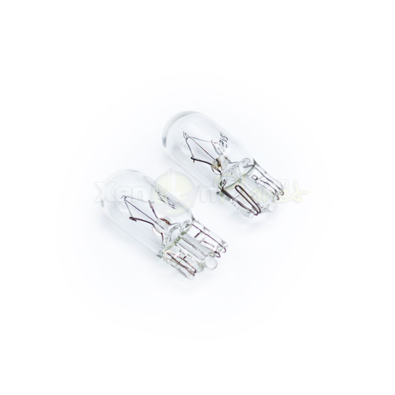 501 W5W T10 License Number Plate Light Bulbs 12V Clear Glass