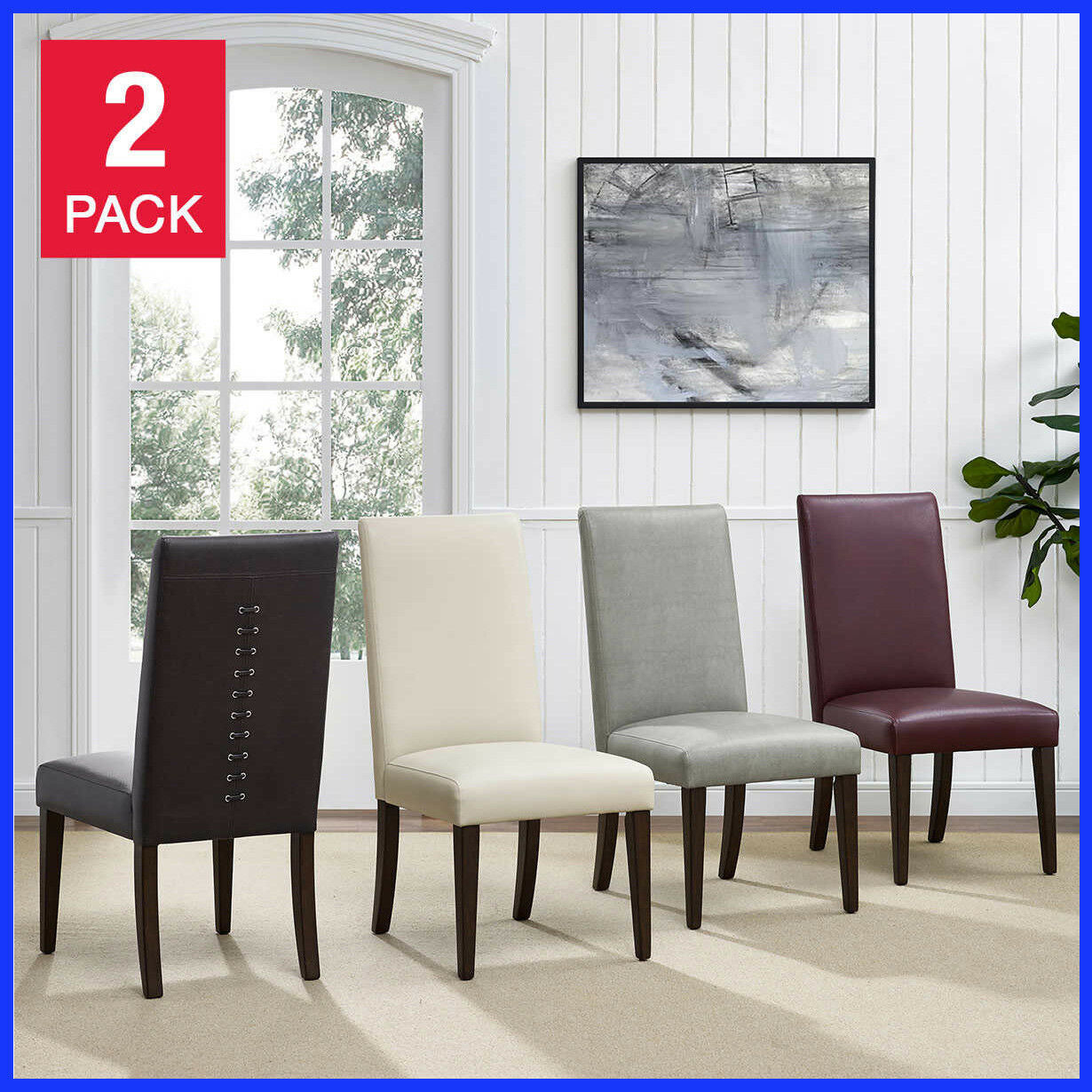 Pulaski Natalia Lace Back Dining Chair 2 pack, 4 Color