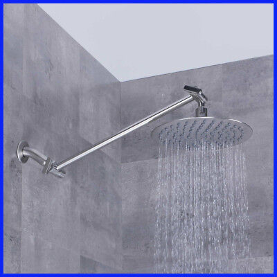 AFA Stainless 8-inch Rainfall Round Shower Head with Fully Adjustable Extension Arm