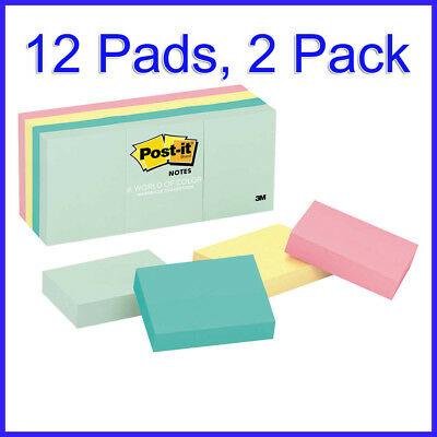 No Tax 2 Pack Post-it Notes 1-12 X 2 Marseille Colors 12 Pads