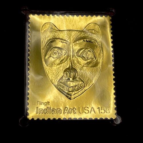 22k Indian Mask Art Tlingit Bear Face Bradbury Thompson 1980 Replica BD23