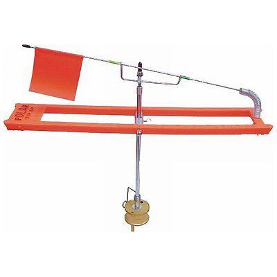 HT Ice Polar Tip Up, Blaze Orange, 200 ft with Metal Spool #PTU-20 ()