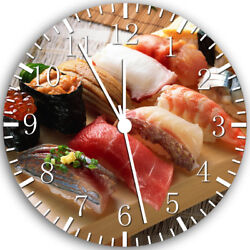 Japanese Sushi Frameless Borderless Wall Clock Nice For Gifts or Decor W125