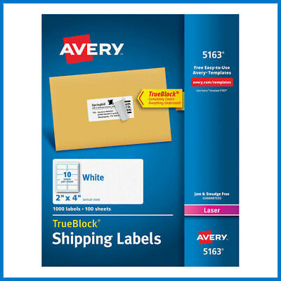 No Tax Avery Labels With Trueblock Technology 2 X 4 1000-count