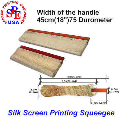 Screen Printing Squeegee Handle With 75 Duro Blade 18 Widen Woodle Handle