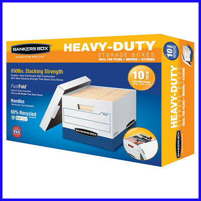 [No Tax] Bankers Box Heavy Duty File Boxes Letter/Legal 10-pack