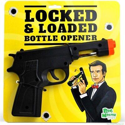 Locked   Loaded Gun Beer Bottle Cap Opener   007 James Bond Bar Tool   Bigmouth