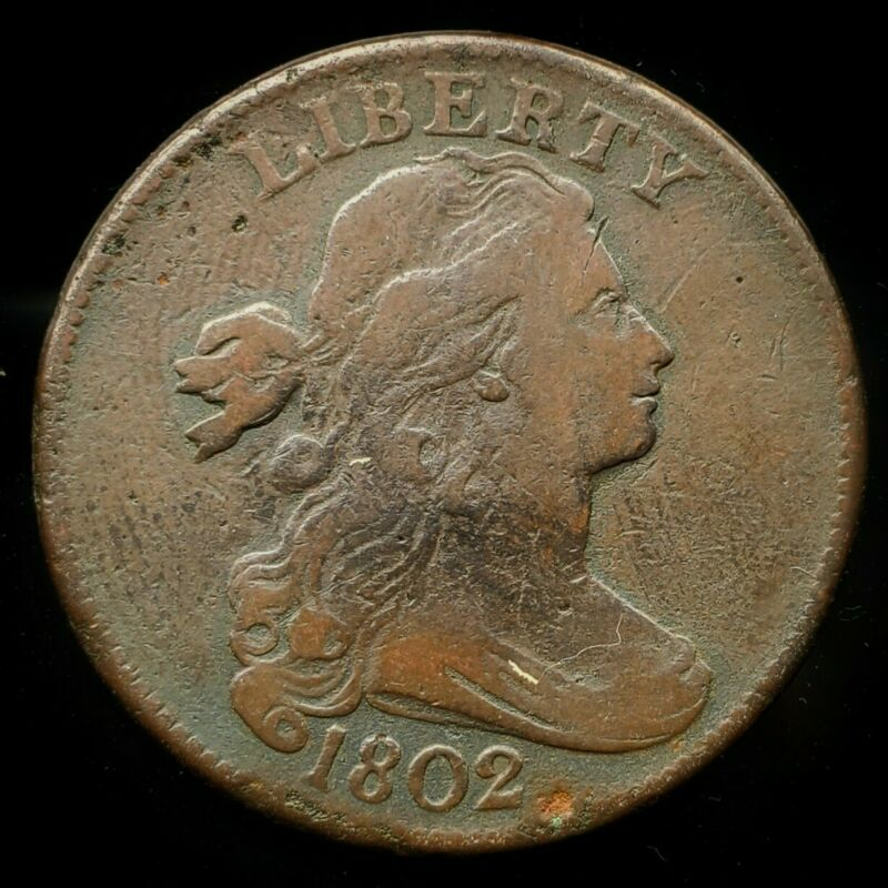 1802 Draped Bust Large Cent |  *Early*  -Very Fine-   *383