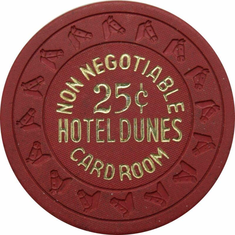 Dunes Casino Las Vegas 25 Cent Non-Negotiable Card Room Chip 1970s