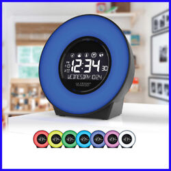 [No Tax] La Crosse 7 Color Mood Light LCD Alarm Clock with Nature Sounds