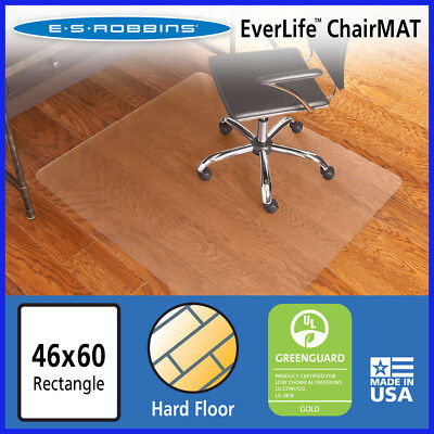 No Tax Es Robbins Chair Mat For Hard Floors 46 X 60 No Lip Clear