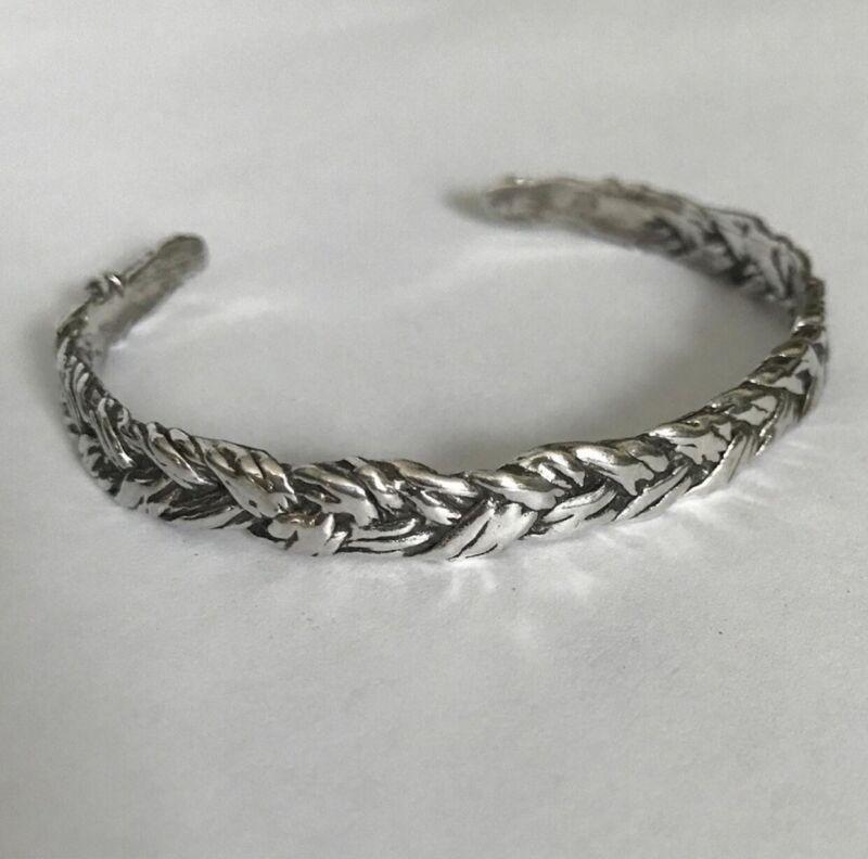 Sterling Silver Cuff Bracelet Memento Mori
