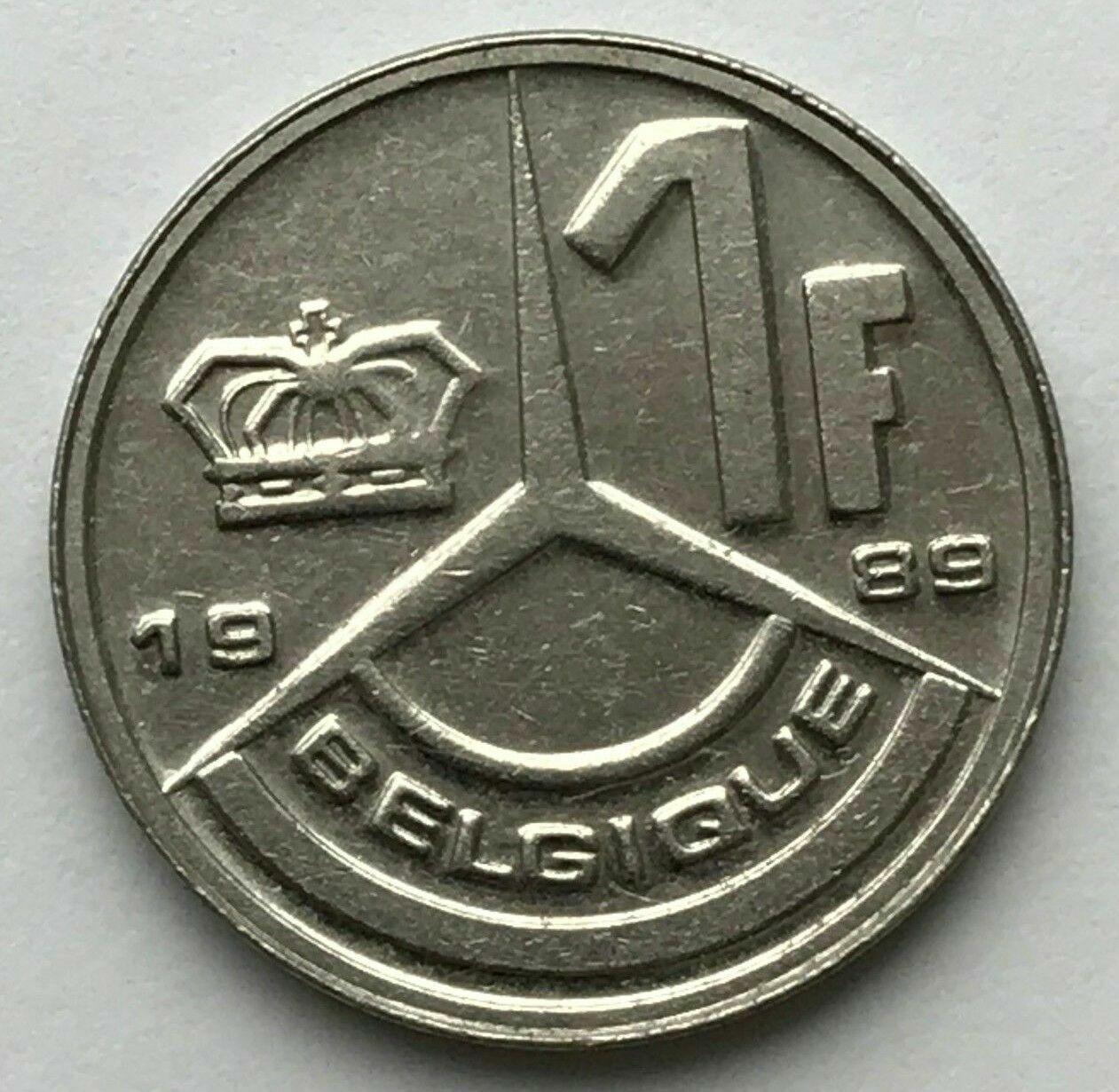 1 Franc 1 Frank Belgique Baudouin Boudewijn 1989 1990 1991