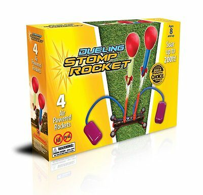 Stomp Rocket Dueling Kit Launcher Toy Outdoor Toy Includes Four Rockets