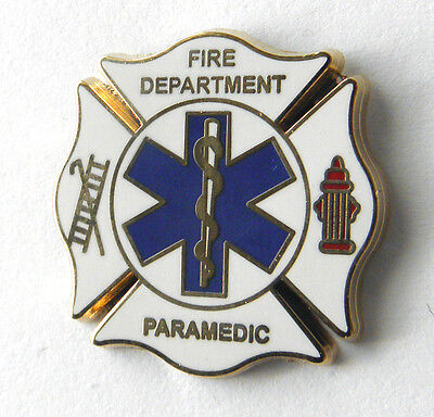 FIREFIGHTER FIRE FIGHTER EMT EMS PARAMEDIC LAPEL PIN BADGE 1 INCH