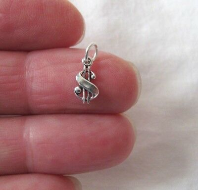 Small Sterling Silver Dollar sign miniature - Silver Dollar Sign