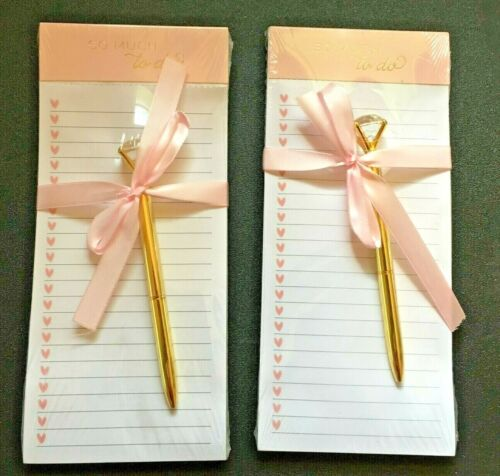"""Set of 2 Gartner Studios """"So Much To Do"""" Magnetic Notepad 4X9 100 Sheets-Bridal"""