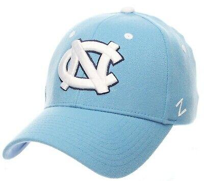 uk availability 8a6fa fc1b5 NORTH CAROLINA TAR HEELS UNC ZEPHYR ZH LT BLUE FLEX FIT FITTED HAT CAP NEW  XL