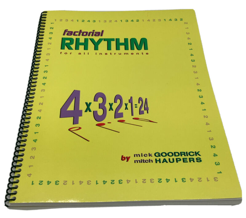 Factorial Rhythm For All Instruments By Mick Goodrick & Mitch Haupers 1st Ed