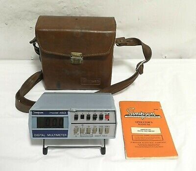 Simpson Model 463 Digital Multimeter With Case And Manual