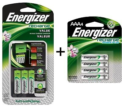 Energizer Recharge Value Charger with 4 AA and 4 AAA rechargeable batteries(New) (Energizer Recharge)
