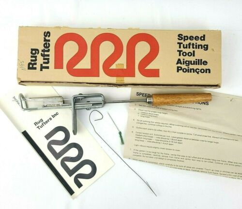 Rug Tufters Speed Tufting Tool Set Vintage Punch Craft Needle Original Box