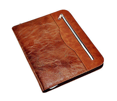 A4 Soft Touch Professional Portfolio Folder With Calculator Pad- Brown Cl-512