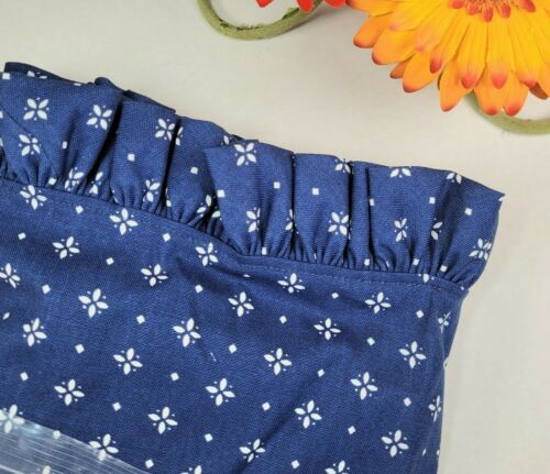 Longaberger Classic Blue Rectangular Small Laundry Basket Liner #227643 - NEW