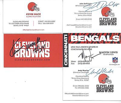 Cleveland Browns Offensive Line Coach Andy Moeller Signed Business Card