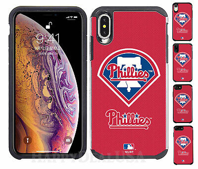 Official MLB ShockProof Hybrid Cover Case for Cell Phone - Philadelphia Phillies - Mlb Cell Phone Cover