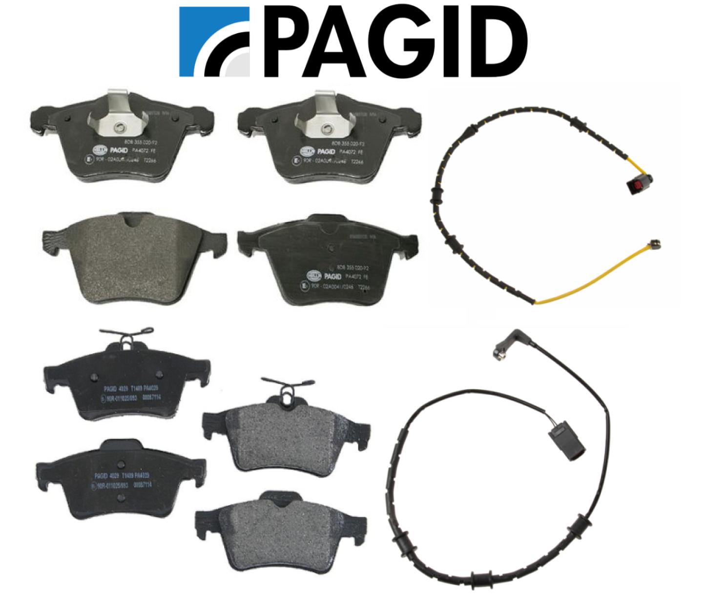 Pair Set of Front and Rear Brake Pad Sensors For Jaguar XF XJ 2013-2015