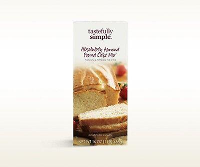 1 box of Tastefully Simple Absolutely Almond Pound Cake Mix 2 Classy Chocolate  Chocolate Pound Cake Mix
