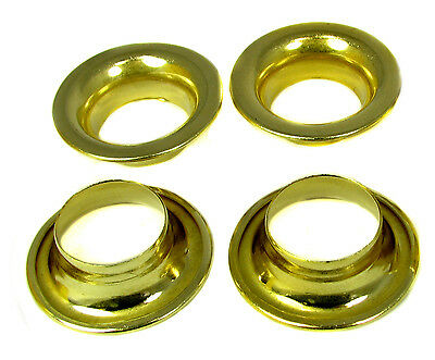"4pc. Nice Big #8 Brass Rolled-Rim Grommets - 1 7/8"" Outside Diameter - 32-101-01 on Rummage"