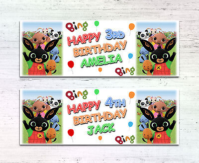 2 BING personalised banners for all Occasions birthday party name - Name Banner For Birthday Party