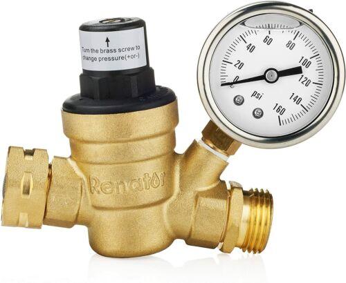 Renator M11-0660R Water Pressure Regulator Valve. Brass Lead-free Adjustable