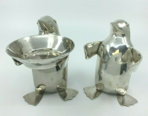 2 Restoration Hardware Silver Plated Penguins