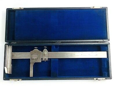 Vintage Brown Sharpe Micrometer 585 Caliper Machinist Tool With Case Blue Usa