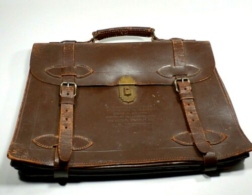 Vintage U.S. Military WWII Special Lawyer Type 2 Leather Attache Briefcase Case