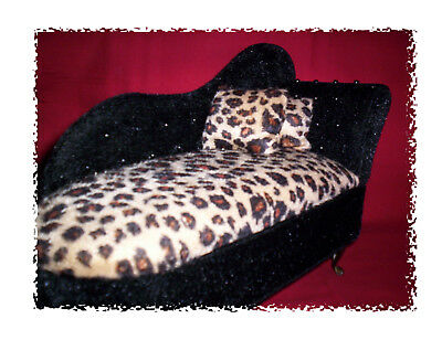 Leopard Chaise Lounge (JEWELRY BOX GOLDEN BLACK CHEETAH LEOPARD CHAISE LOUNGE shape. 8
