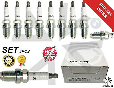 8 PCS BMW Spark Plugs NGK Double Laser Platinum 12120037607 for E39-E46-M54 3199