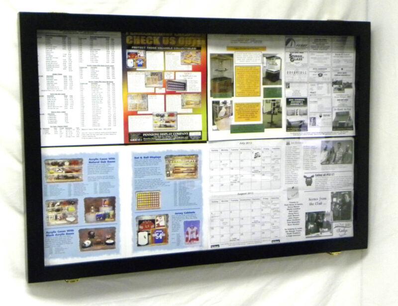 Bulletin Board with an Acrylic Hinged Door