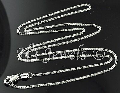 1.60 gram 18k solid white gold foxtail wheat chain necklace 16 inch fox tail #96