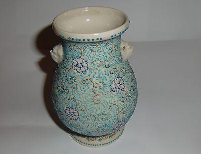 19th century meiji  baluster enamel decorated vase