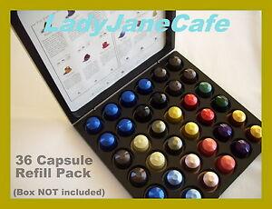 36 nespresso capsule pod discovery box coffee refill ebay. Black Bedroom Furniture Sets. Home Design Ideas