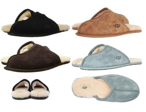 Authentic UGG Mens Scuff Slipper Shoes Black Chestnut Espresso New 8 9 10 11 12