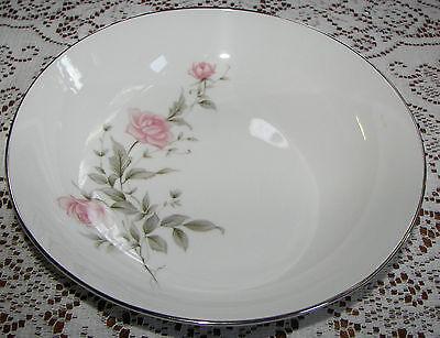 "Vintage Barker Bros. Japan 9 1/8"" Round Vegetable Bowl Pink Flowers 63-5827"
