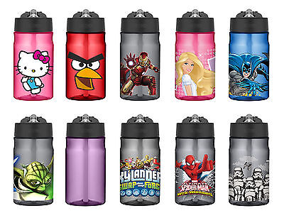 Thermos Tritan 12 ounce Hydration Bottles with Straws, 23 Styles (Water Bottles With Straws)