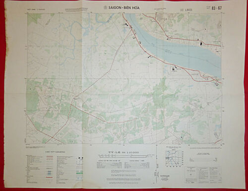 MAP - 83-67 - SAIGON - BIEN HOA - DONG NAI RIVER - 1971 ORPHANAGE - Vietnam War