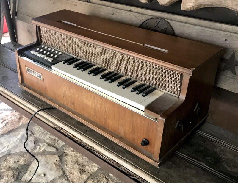 Vintage Audion Consolette  Electric Wood ORGAN KEYBOARD Working